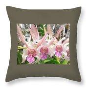 Lorie Mortimer Dendrobium Throw Pillow
