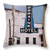Lorraine Hotel Sign Throw Pillow