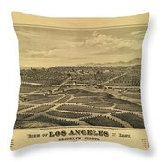 Los Angeles 1877 Throw Pillow