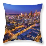 Los Angeles At Dusk Throw Pillow