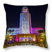 Los Angeles City Hall Throw Pillow