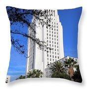Los Angeles City Hall Throw Pillow
