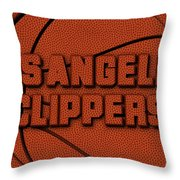 Los Angeles Clippers Leather Art Throw Pillow