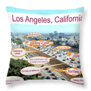 Los Angeles Highway To Heaven Throw Pillow
