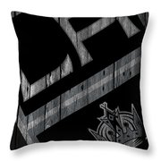 Los Angeles Kings Wood Fence Throw Pillow