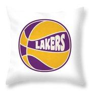 Los Angeles Lakers Retro Shirt Throw Pillow