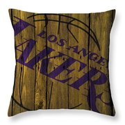 Los Angeles Lakers Wood Fence Throw Pillow