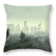 Los Angeles Morning Throw Pillow