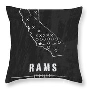 Los Angeles Rams Art - Nfl Football Wall Print Throw Pillow by Damon Gray