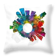 Los Angeles Small World Cityscape Skyline Abstract Throw Pillow