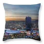 Los Angeles West View Throw Pillow