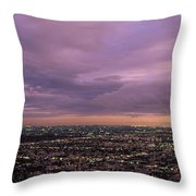 Los Angels Sunset Throw Pillow