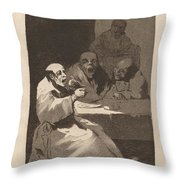 Los Caprichos: Estan Calientes Throw Pillow