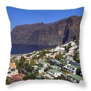 Los Gigantes In Tenerife Throw Pillow