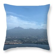 Los Gigantes Panorama  Throw Pillow