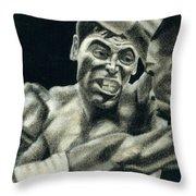 Los Guerreros Throw Pillow by Roberto Valdes Sanchez
