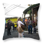 Los Historiantes De Apaneca Throw Pillow