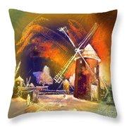 Los Molinos Del Quijote 01 Throw Pillow