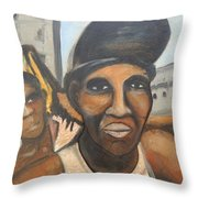 Los Negros Throw Pillow