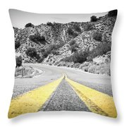 Los Padres Country Highway Throw Pillow