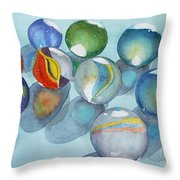 Lose Your Marbles 2 Throw Pillow