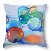 Lose Your Marbles Throw Pillow