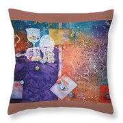 Losing My Marbles Throw Pillow