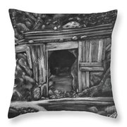 Lost Burro Mine Death Valley Throw Pillow
