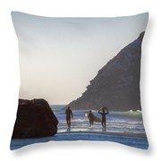 Lost Coast Surfers Throw Pillow