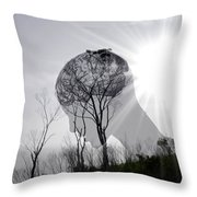 Lost Connection With Nature Throw Pillow