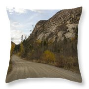 Lost Creek Road Throw Pillow