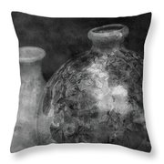 Lost Crystal Glaze Vessels 1722 Bw_2 Throw Pillow