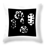 Lost Faces Throw Pillow