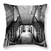 Lost Glory Staircase - Abandoned Castle Throw Pillow