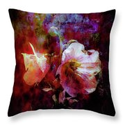 Lost Hollyhock Burning In The Dark Digital Painting 1358 Ldp_2 Throw Pillow
