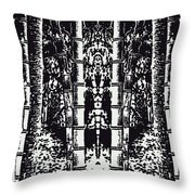 Lost In A Bamboo Jungle Throw Pillow