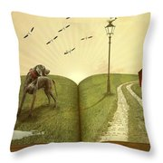 Lost In A Book Throw Pillow