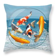 Lost In A Daydream - Fish Out Of Water Throw Pillow