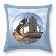 Lost In A Daydream - Floating On The Thames Throw Pillow