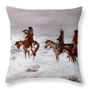 'lost In A Snow Storm - We Are Friends' Throw Pillow