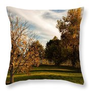 Lost In Autumn Throw Pillow