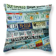 Lost In Plates Throw Pillow
