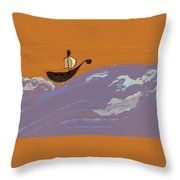 Lost In Storm Throw Pillow