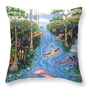 Lost In The Amazon Throw Pillow