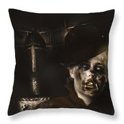 Lost In The Dark. Death Becomes You Throw Pillow