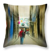 Lost In The Maze Of The City Throw Pillow