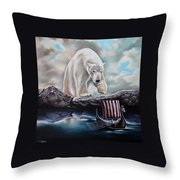 Lost In The World Of Giants Throw Pillow