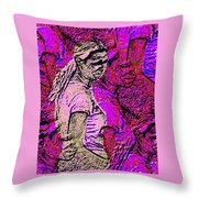 Lost In Thoughts Of Self Reflection Throw Pillow