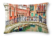 Lost In Venice Throw Pillow