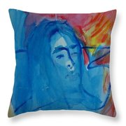 Lost Lady Throw Pillow